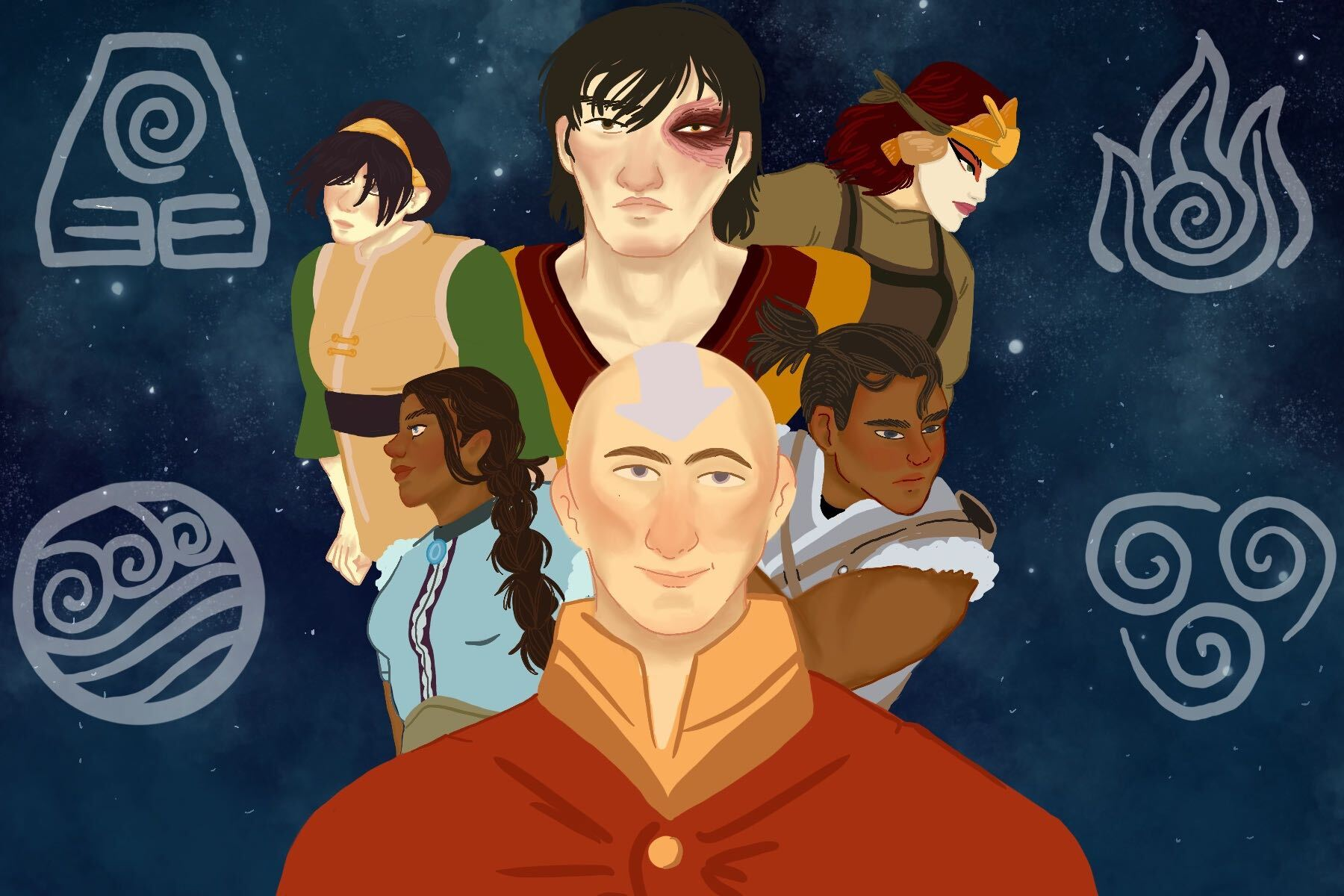 The cast of Avatar: The Last Airbender