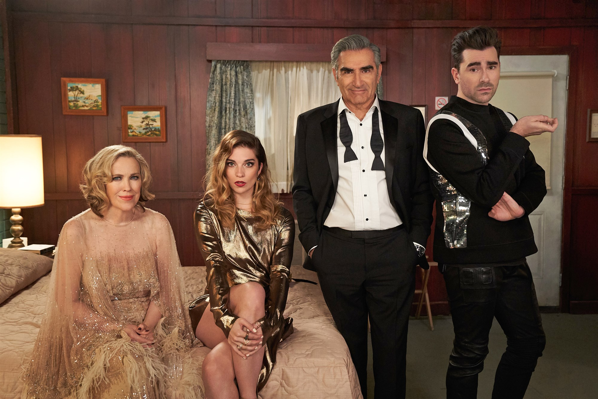 Schitt's Creek featuring Catherine O'Hara, Annie Murphy, Eugene Levy and Dan Levy