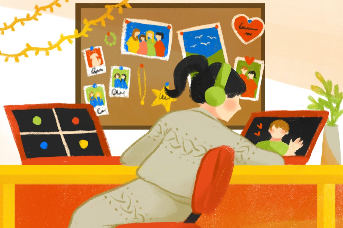 Social isolation and relationships. (Illustration by Eri Iguchi, Minneapolis College of Art and Design)