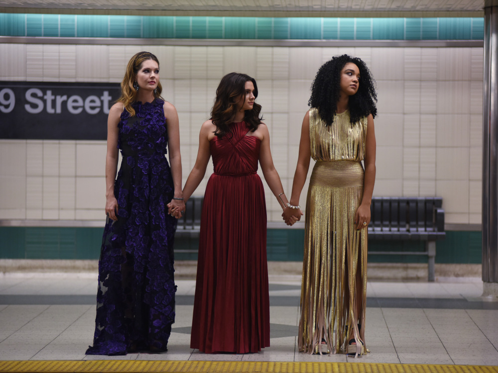 "A picture of the three main women on ""The Bold Type"""