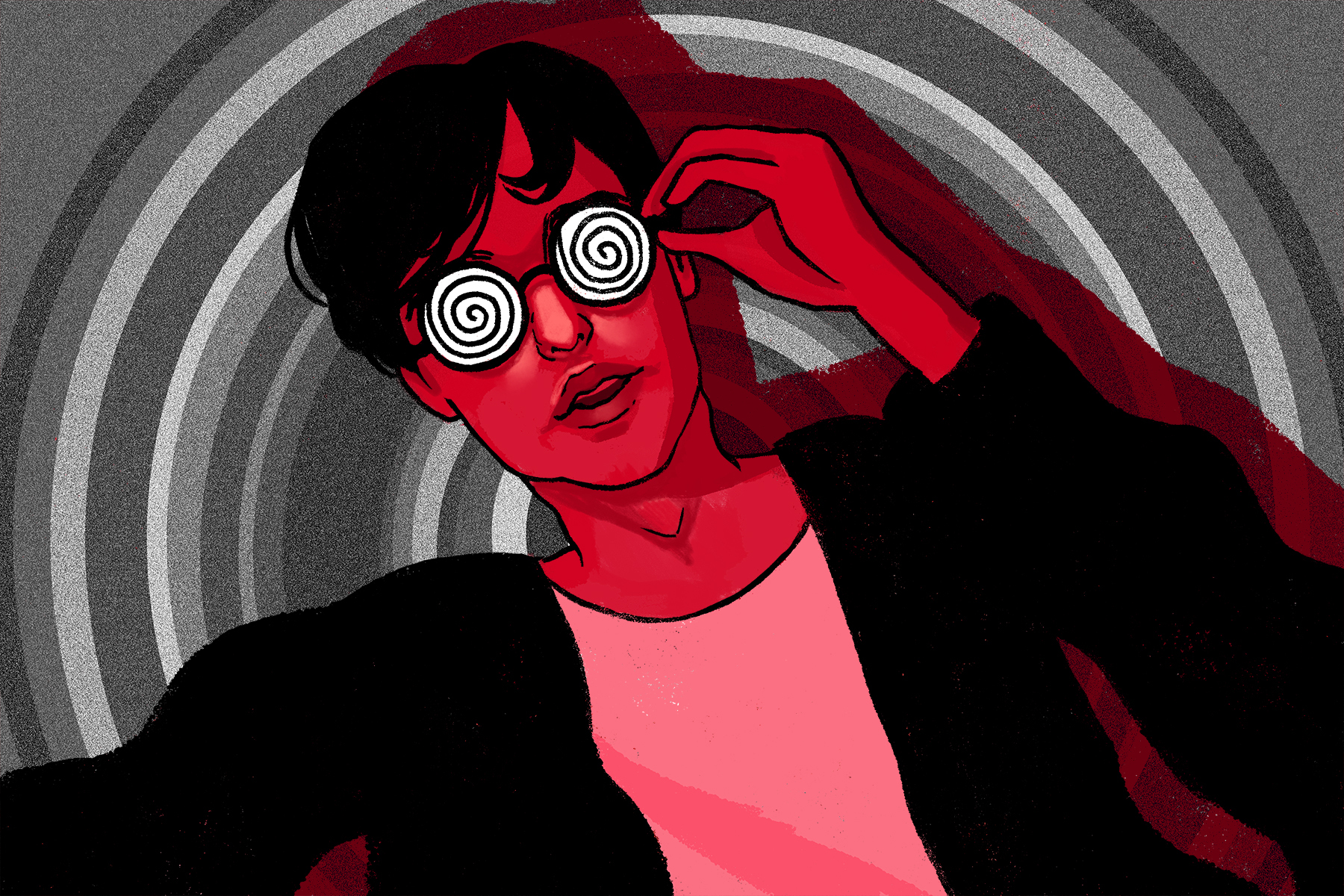 In an article about Joji's album 'Nectar.' An illustration of Joji by Marlowe Pody.