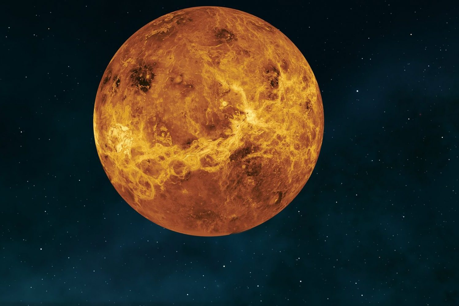 An image of Venus in an article about science and sci-fi.