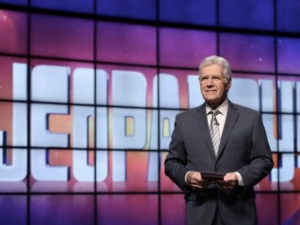 "Image of Alex Trebek on ""Jeopardy!"""