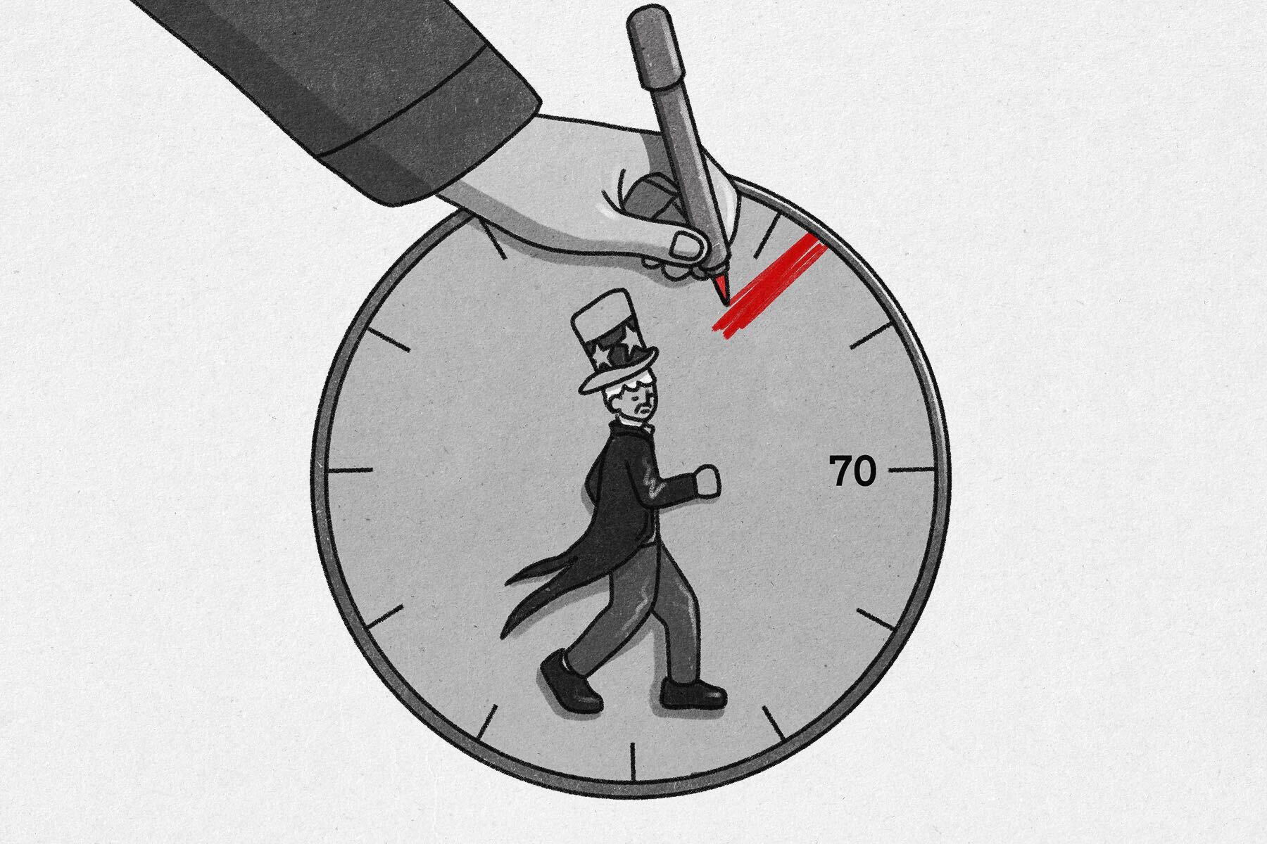 Politician On A Clock