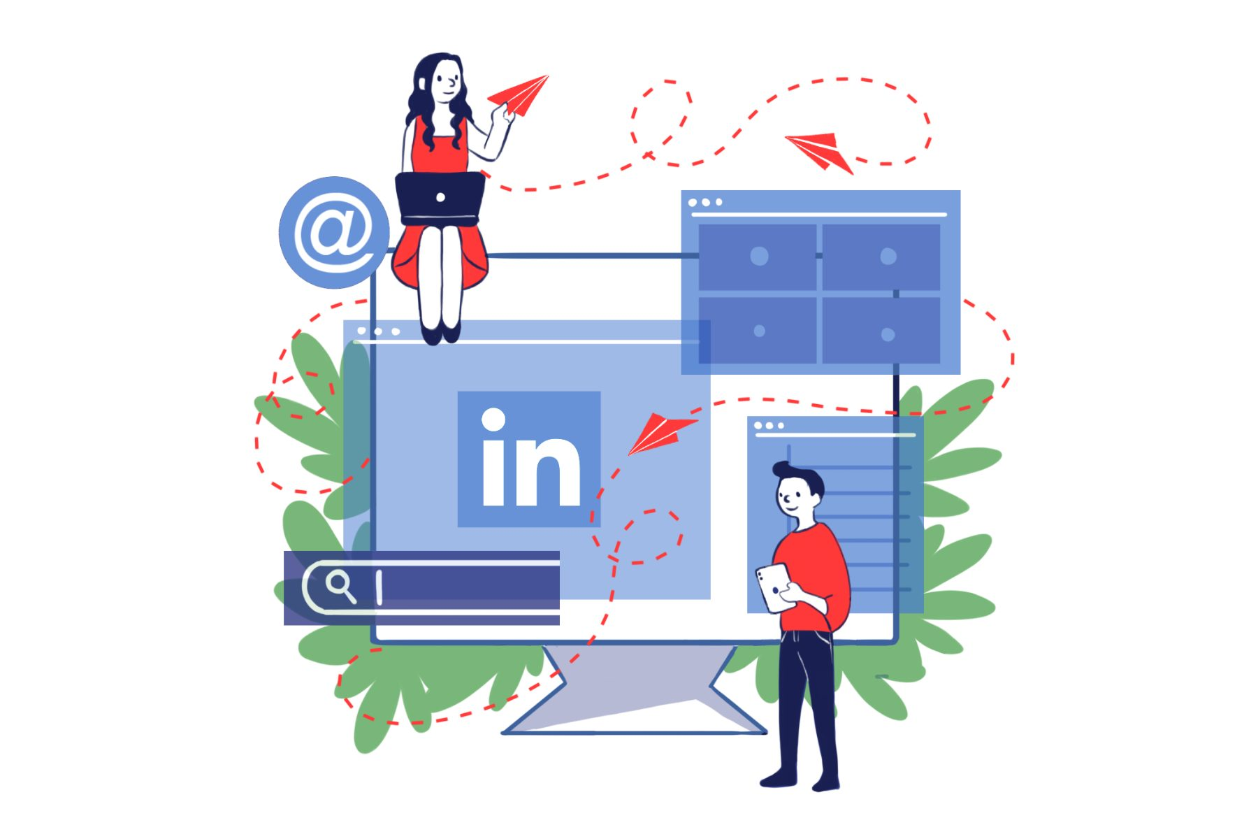 LinkedIn. (Illustration by Eri Iguchi, Minneapolis College of Art and Design)