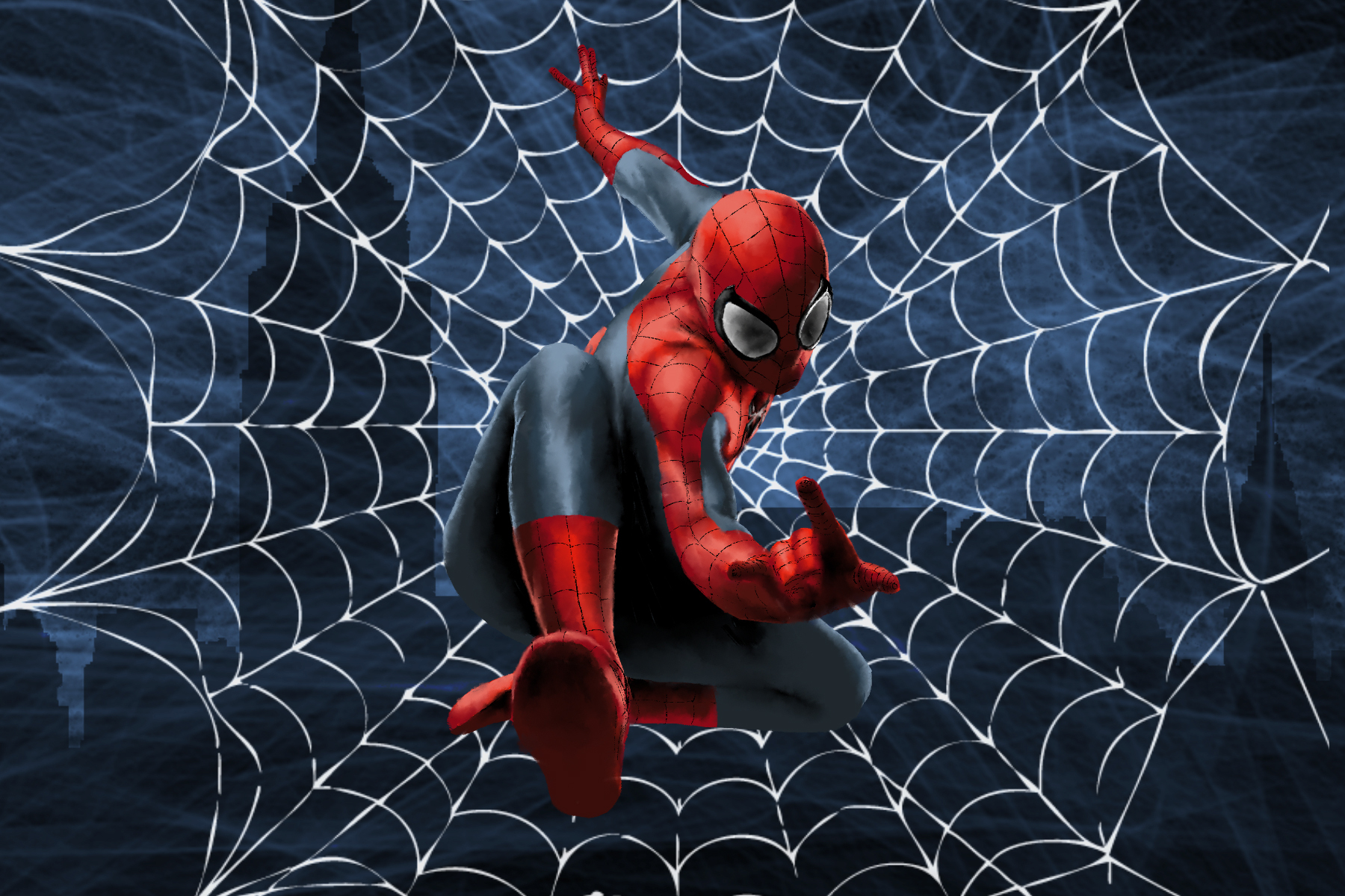An illustration of Spider-Man for an article on the Sam Raimi trilogy.