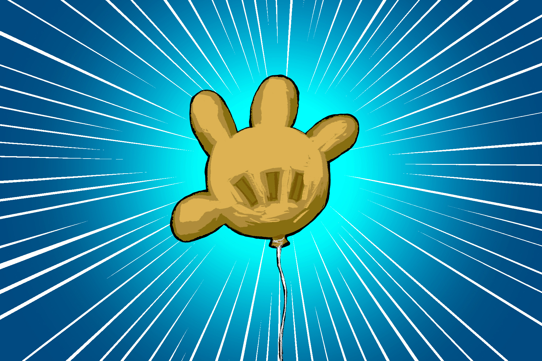 An illustration of a glove balloon from SpongeBob, for an article about the episode 'Rock Bottom.'