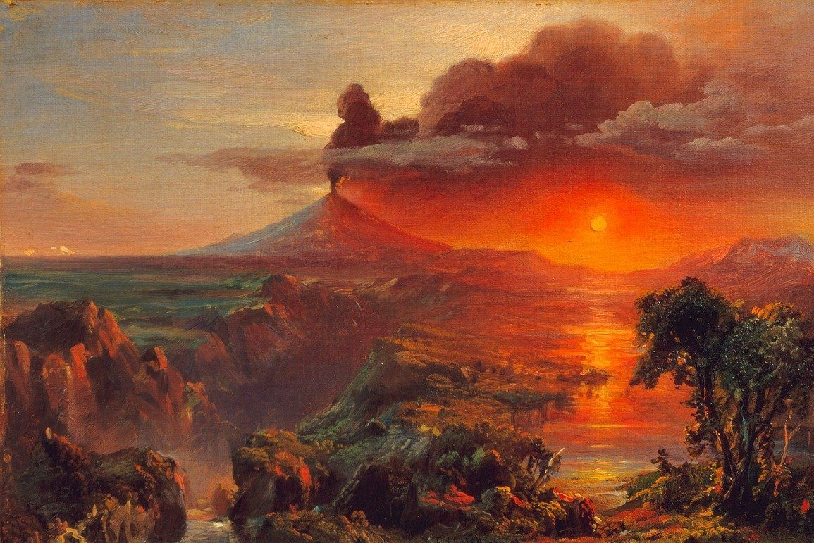 Cotopaxi by Frederic Erwin Church for an article on art and climate change