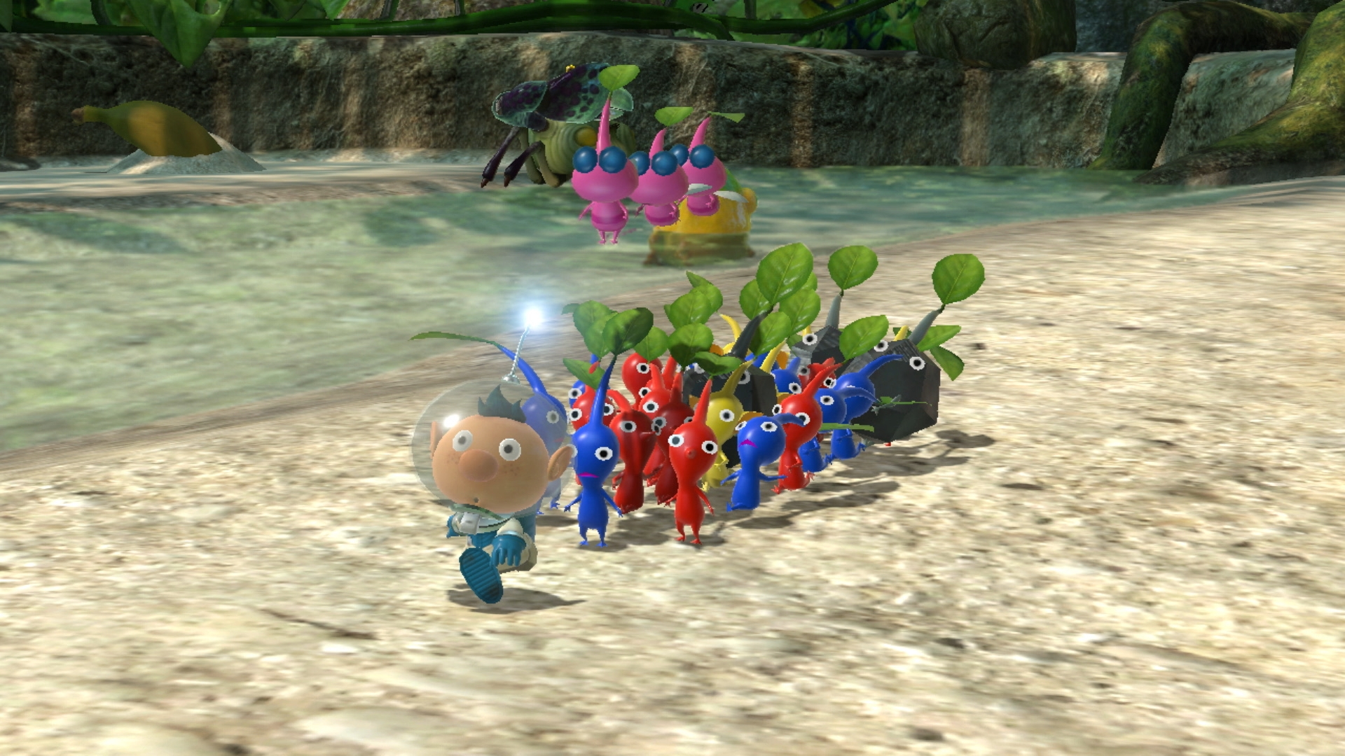 A screenshot from Pikmin 3 for an article about Pikmin evolution.