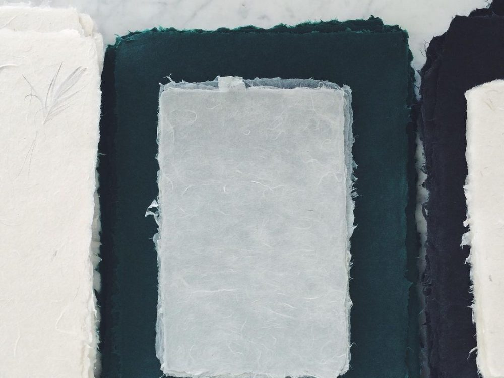 A photo of DIY papermaking