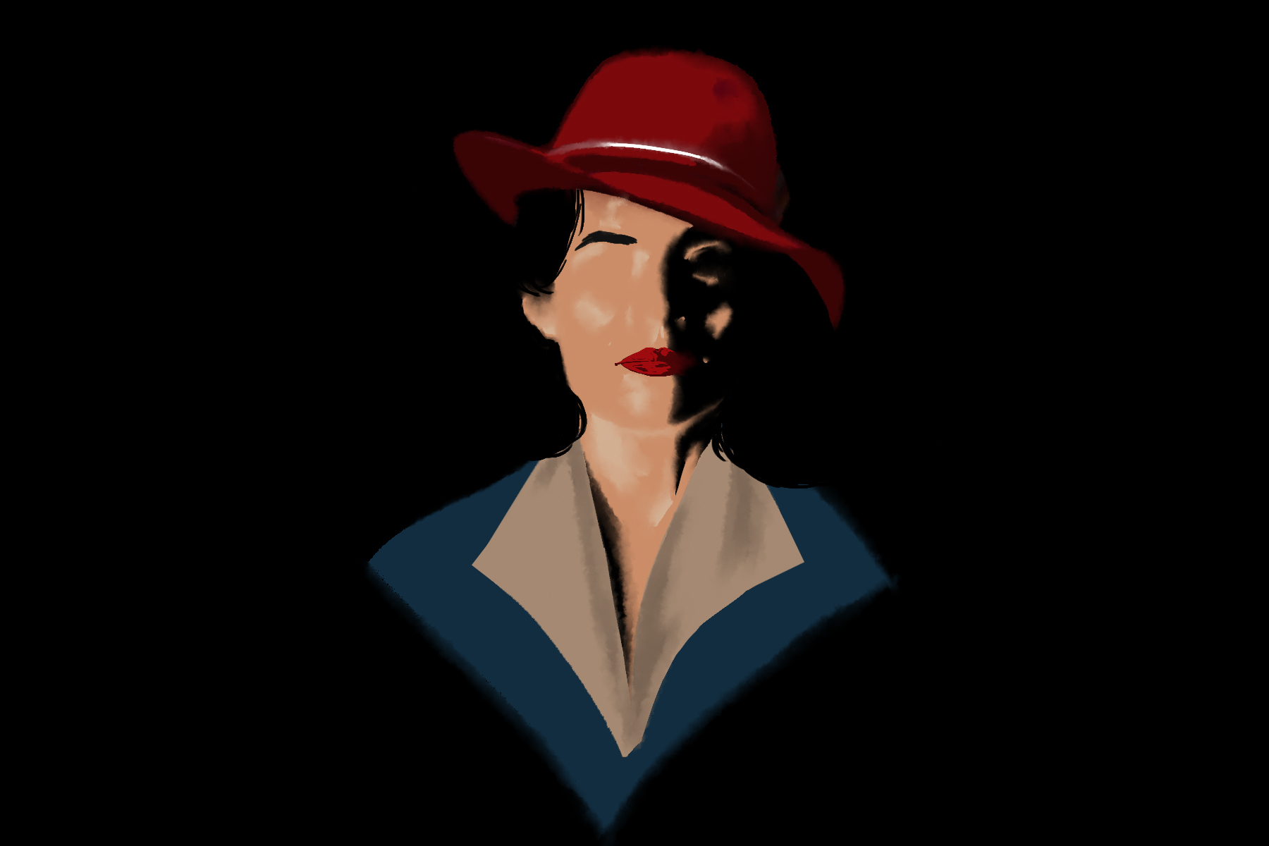 Illustration of Peggy Carter from Agent Carter