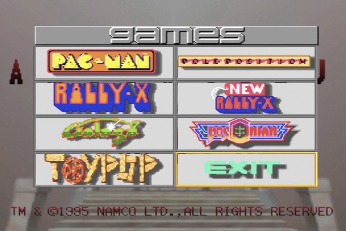 An image of games on a Namco Museum volume