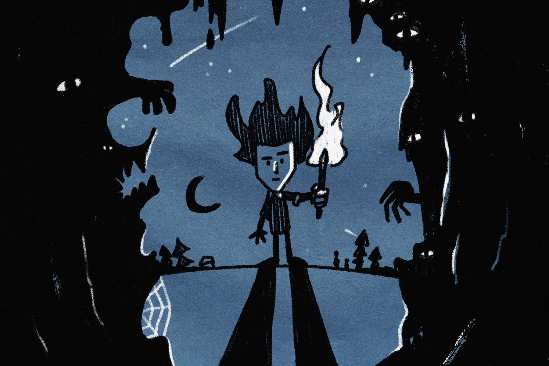 for an article on Don't Starve, an illustration of the main character of the video game