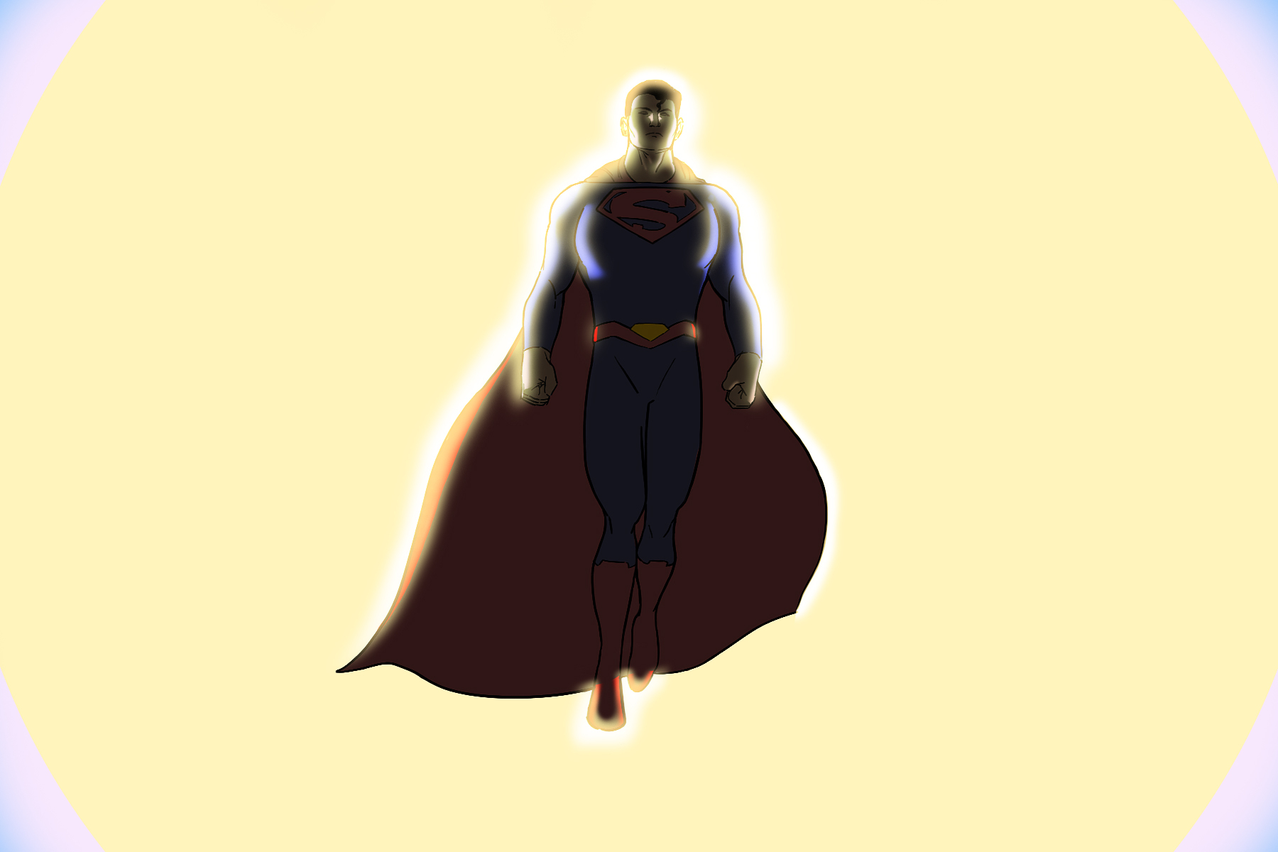 An illustration of Superman for an article about starting new superhero comic books. (Illustration by Mel Quagrainie, Columbia College Chicago)