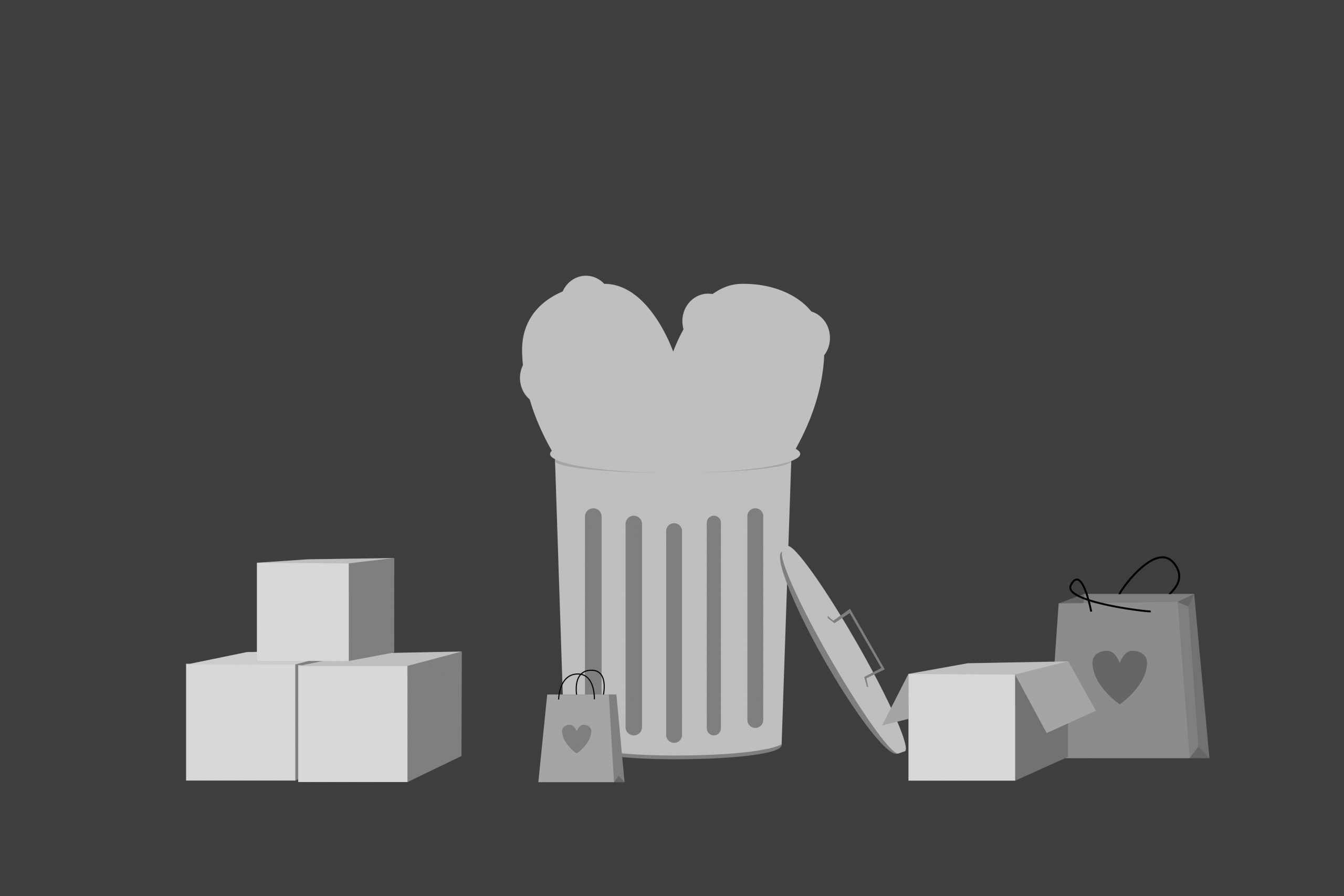 an illustration of gift bags and boxes in an article about gifts to give your valentine