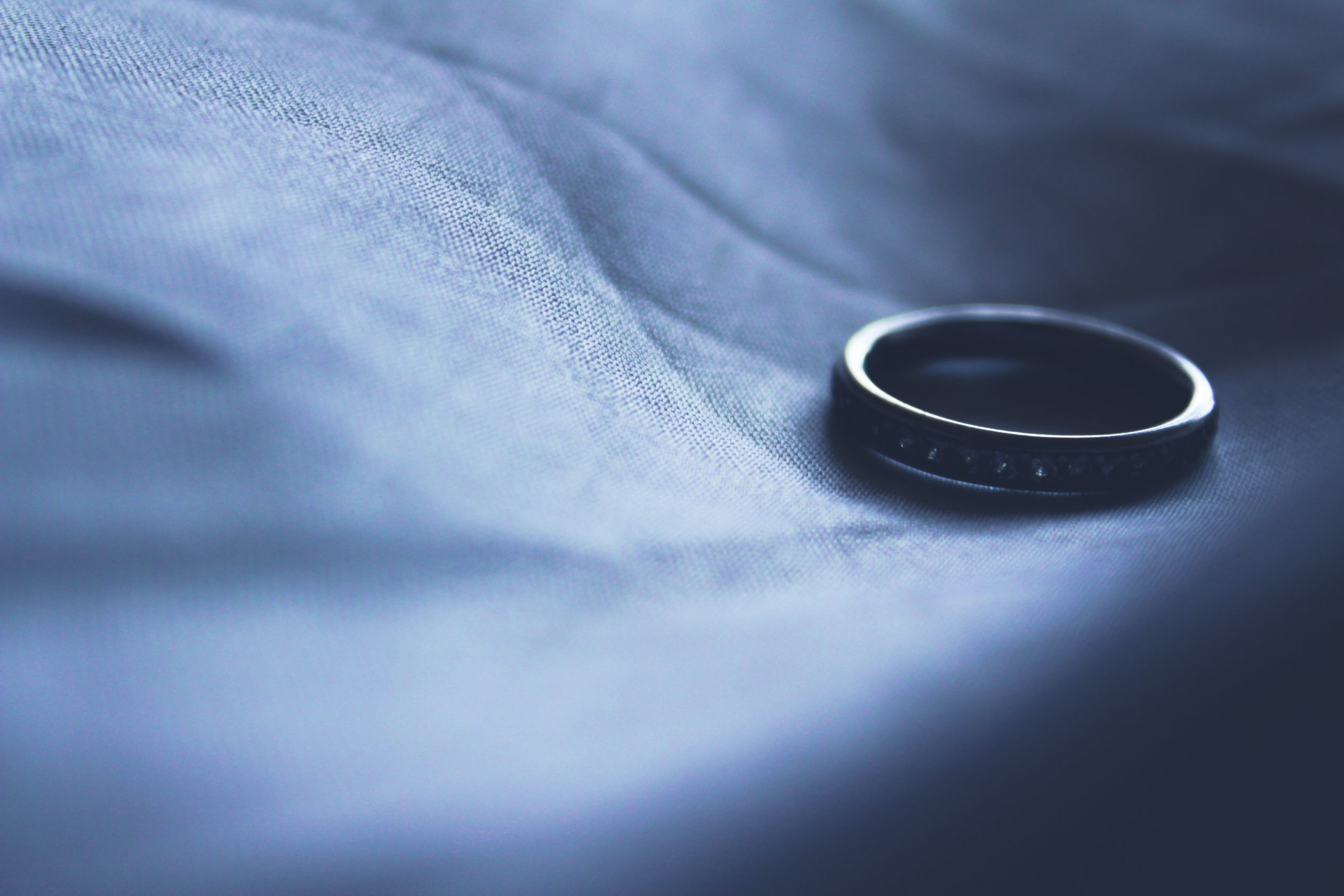 in an article about divorce, a wedding ring
