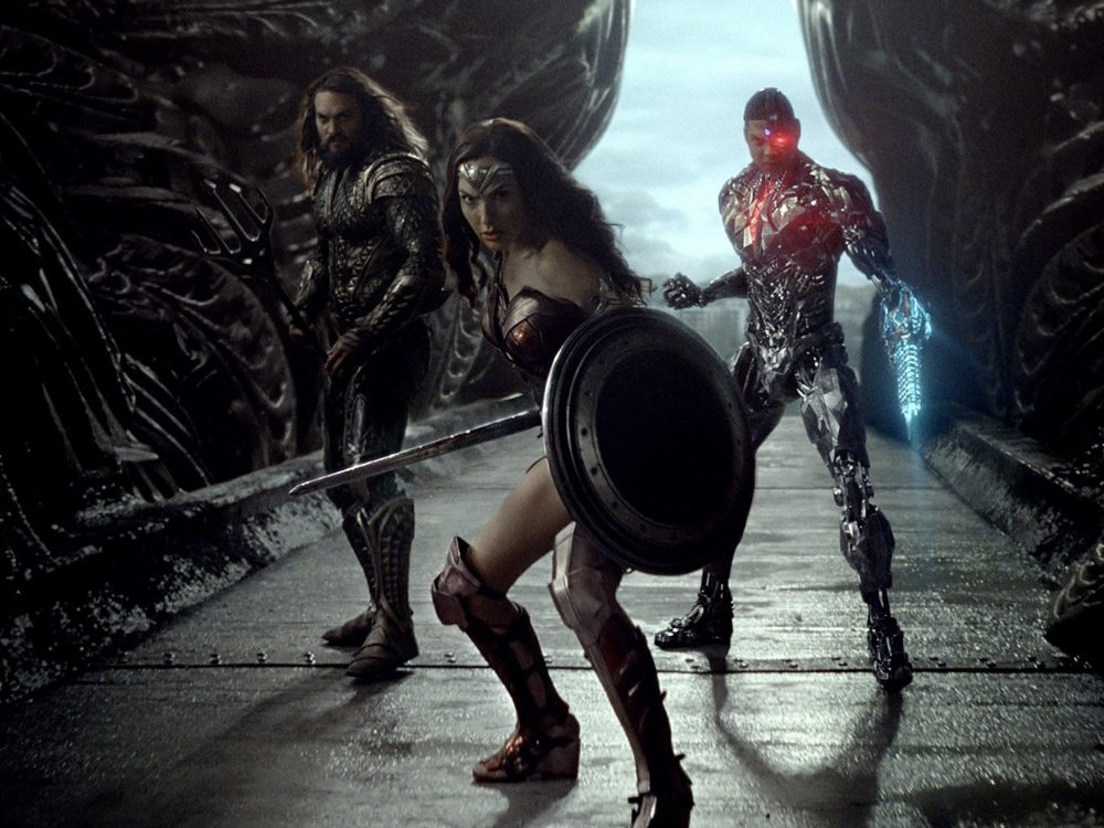 Image of Wonder Woman, Aquaman and Cyborg in the Justice League