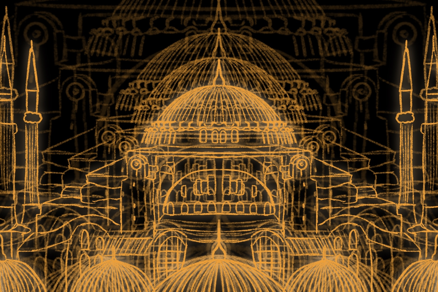 Illustration of the Hagia Sophia
