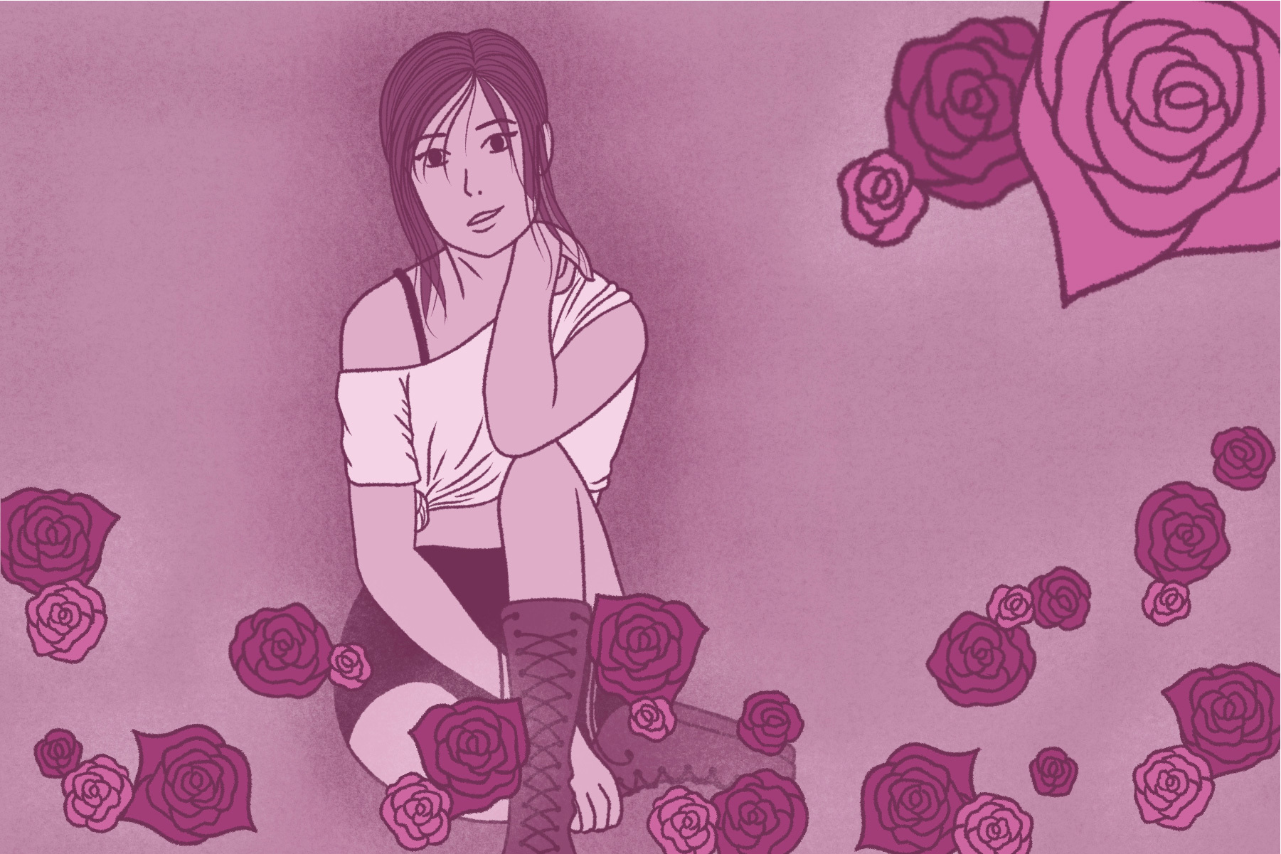 Illustration by Lexey Gonzalez for an article on Rosé