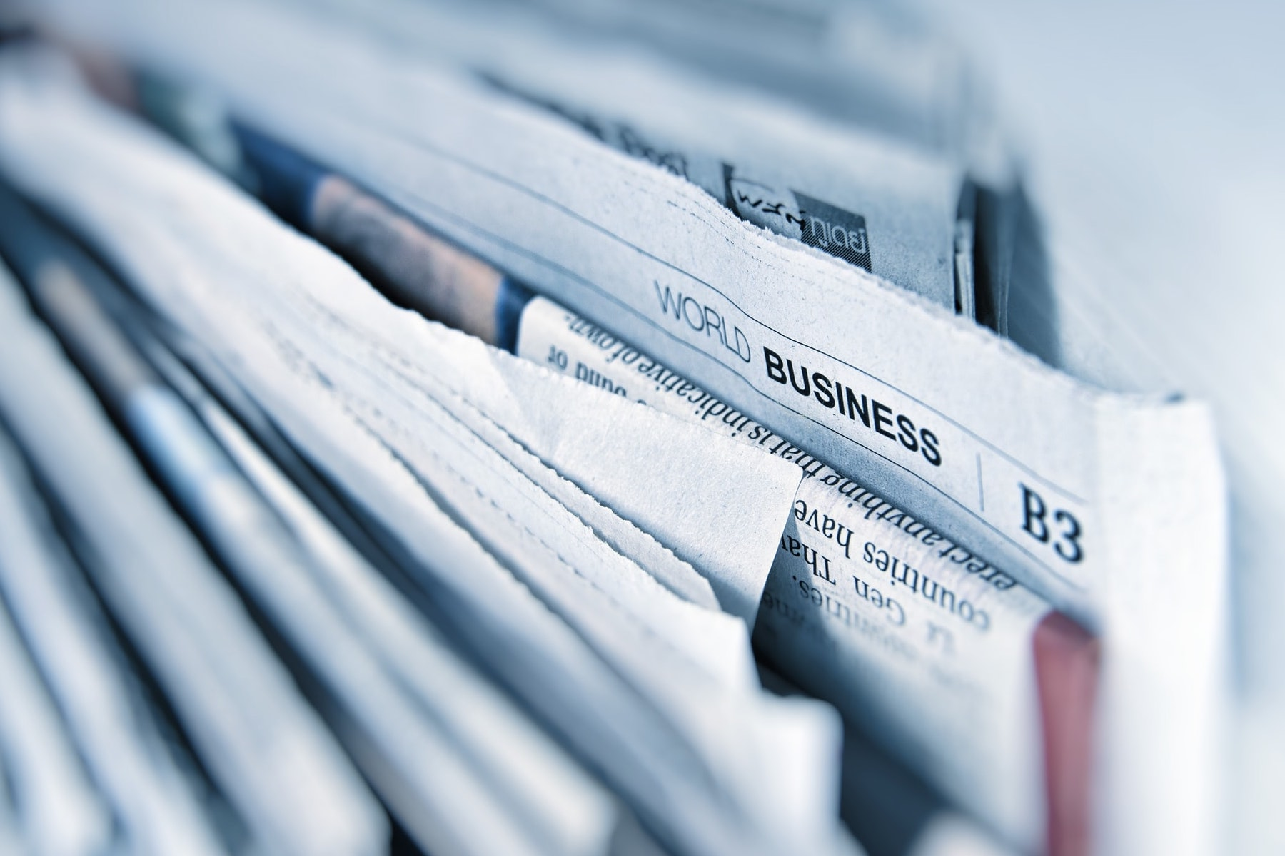 Image of a newspaper for an article about the benefits of startup accelerators. (Photo by AbsolutVision from Unsplash)