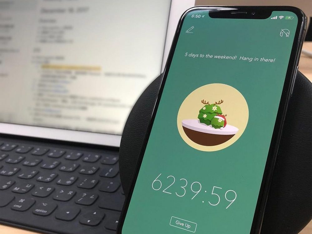 in an article on productivity apps, an image of the forest app on a smartphone