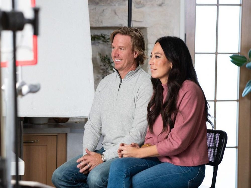 Chip and Joanna Gaines talking about the Magnolia network