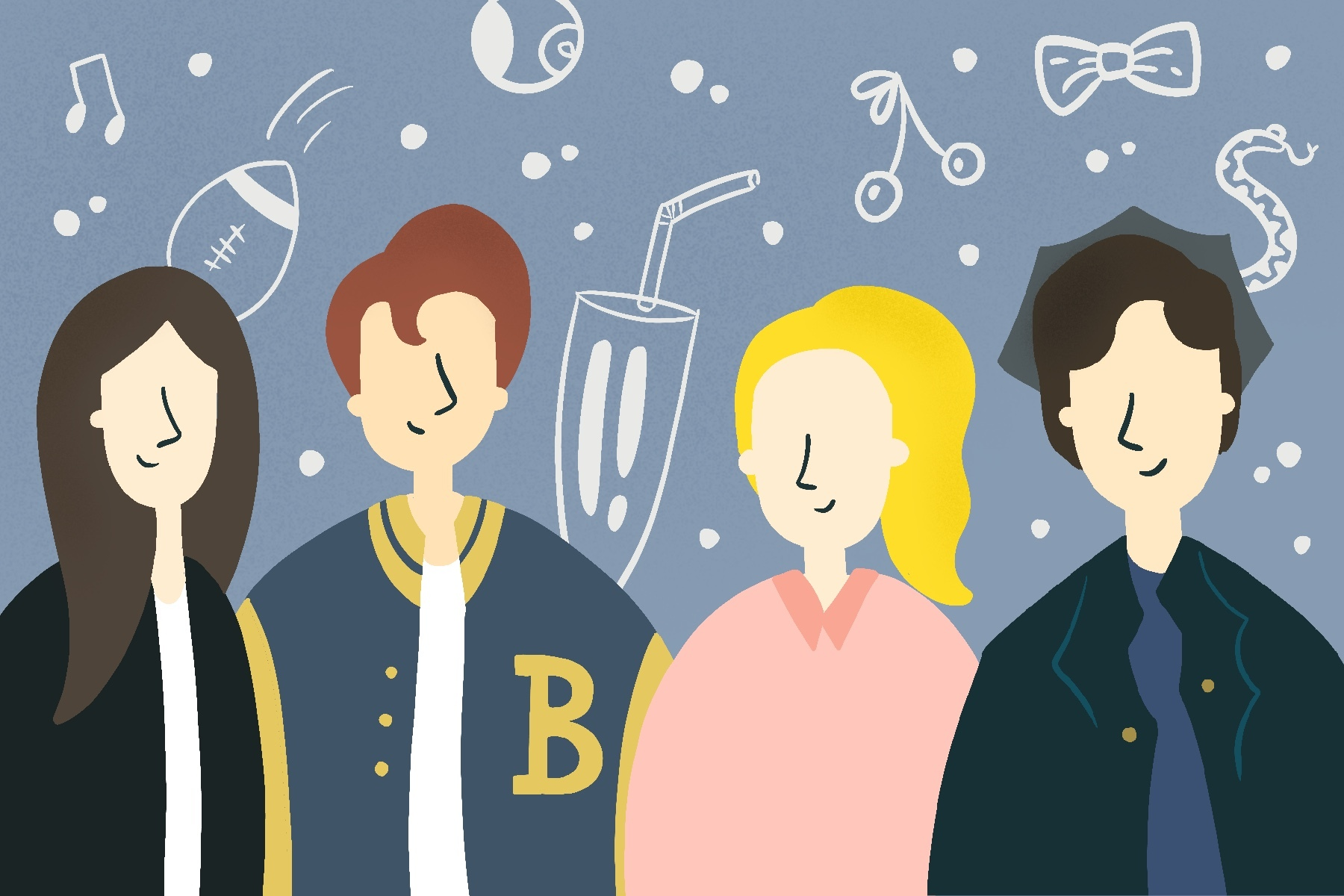 Illustration by Sonja Vasiljeva for an article on Riverdale