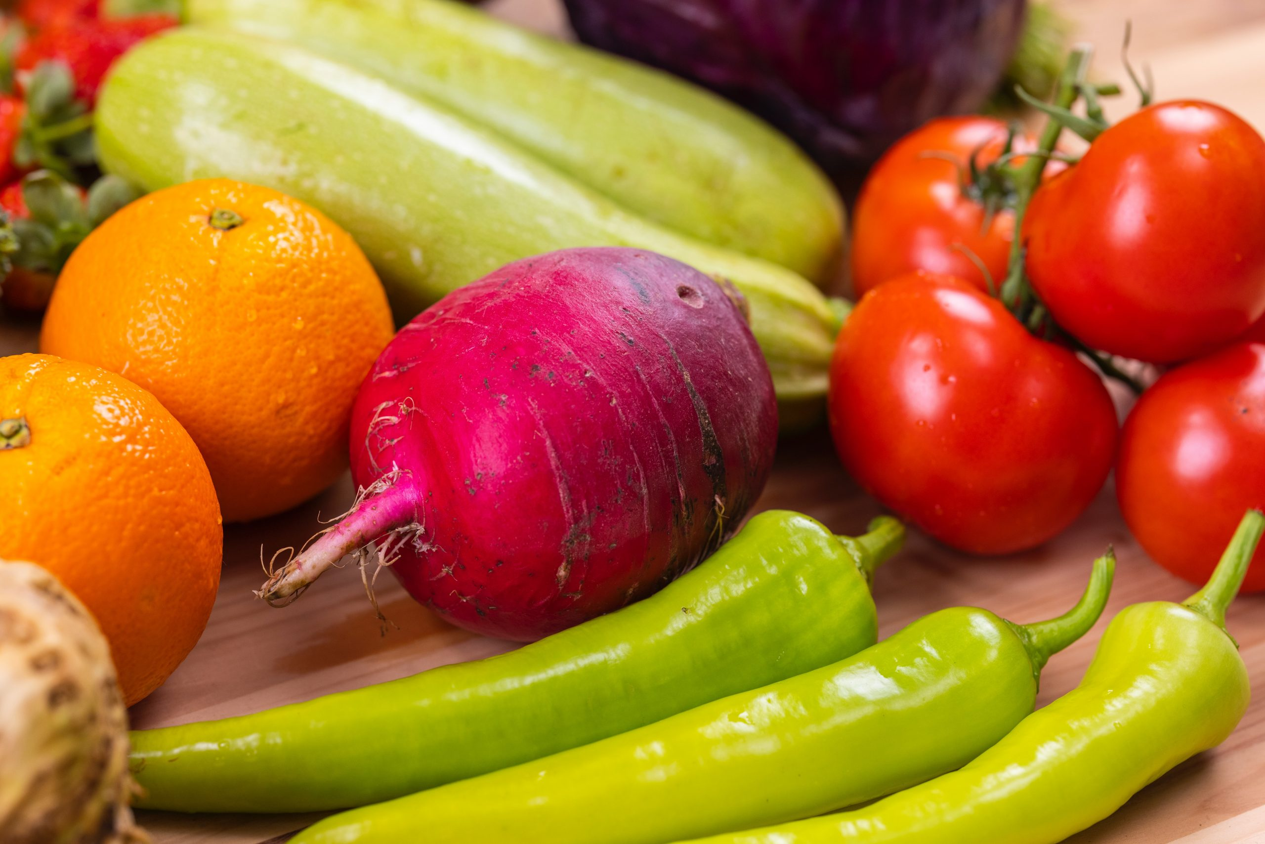 vegetables and vitamins