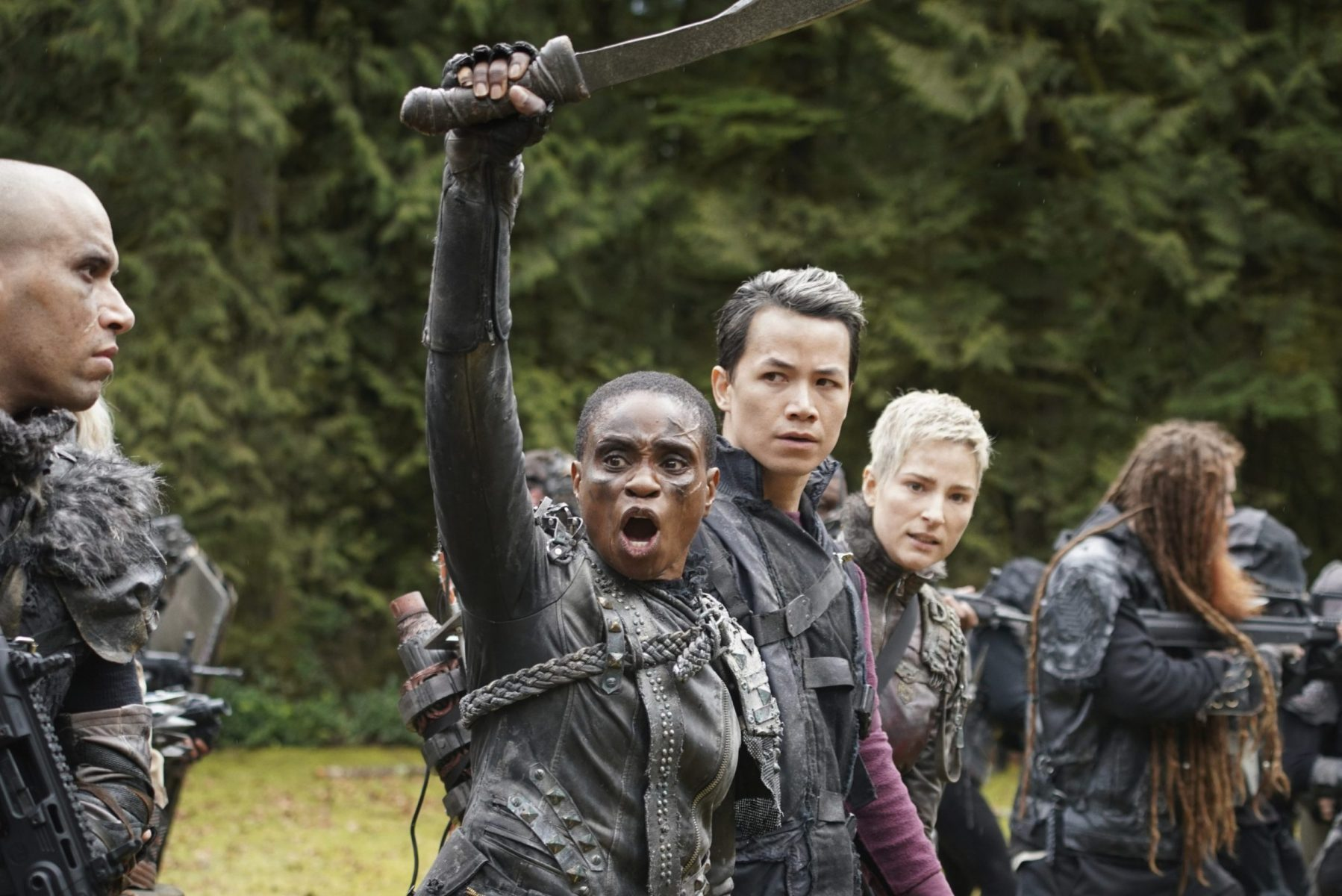 In an article about Lord of the Flies clones, a screenshot from the show The 100